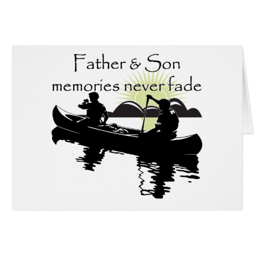 Padre e hijo tarjeton