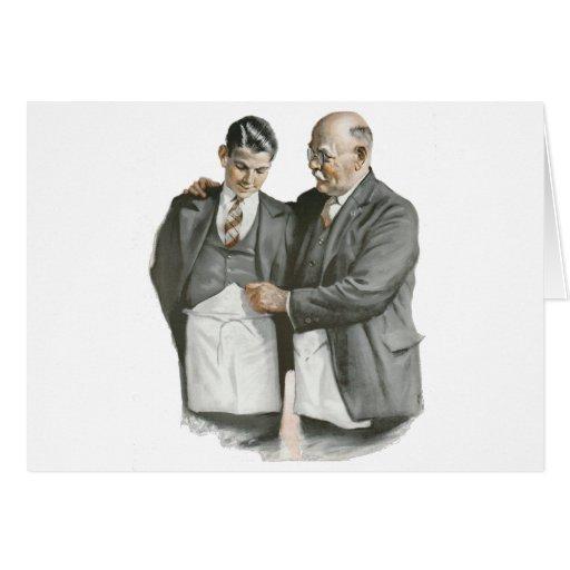 Padre e hijo felicitación