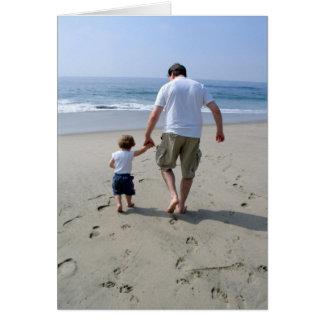 Padre e hijo tarjeta de felicitación