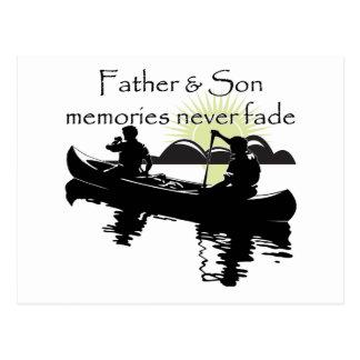 Padre e hijo tarjetas postales