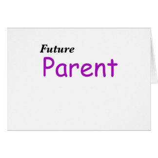 Padre futuro tarjeta de felicitación