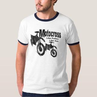 Padre/hijo del motocrós camiseta