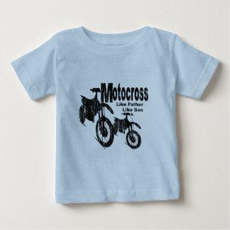 Padre/hijo del motocrós camiseta de bebé