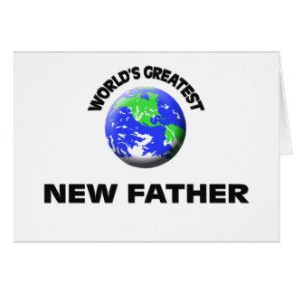 Padre más grande del mundo el nuevo felicitación