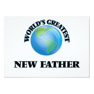 Padre más grande del mundo el nuevo invitación 12,7 x 17,8 cm