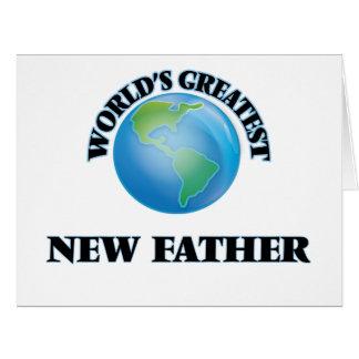 Padre más grande del mundo el nuevo tarjeta