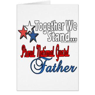 Padre militar orgulloso tarjeta de felicitación