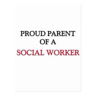 Padre orgulloso de un ASISTENTE SOCIAL Postales