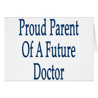 Padre orgulloso de un doctor futuro felicitacion