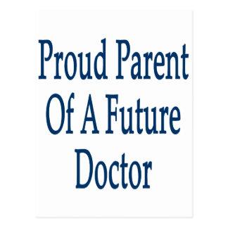 Padre orgulloso de un doctor futuro tarjetas postales