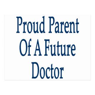 Padre orgulloso de un doctor futuro tarjeta postal