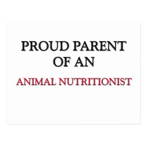 Padre orgulloso de un NUTRICIONISTA ANIMAL Postal