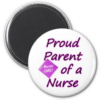 Padre orgulloso de una enfermera imán redondo 5 cm
