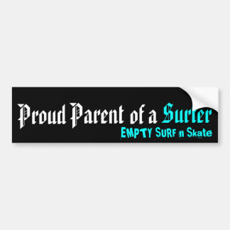 Padre orgulloso de una persona que practica surf pegatina para coche