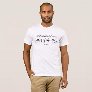 Padre personalizado de la camiseta de la novia del