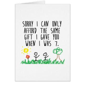 Padres tristes tarjeta de felicitación