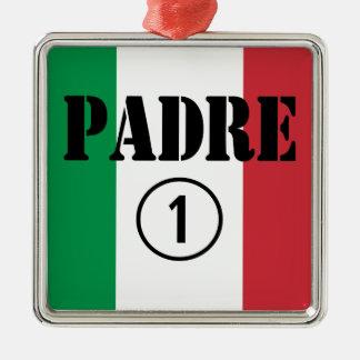 Padres y papás de lengua italiana: Uno de Padre Nu Ornaments Para Arbol De Navidad