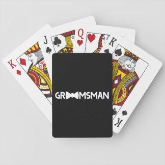 Padrino de boda barajas de cartas