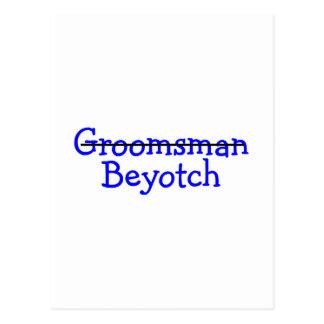 Padrino de boda Beyotch Tarjetas Postales