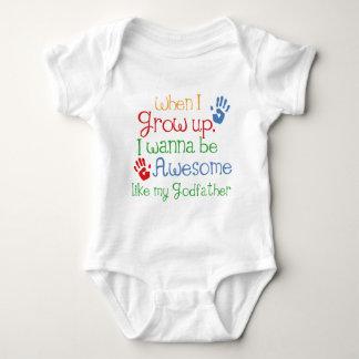 Padrino impresionante del regalo del ahijado body para bebé
