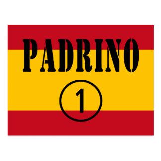 Padrinos españoles: Uno de Padrino Numero Tarjeta Postal