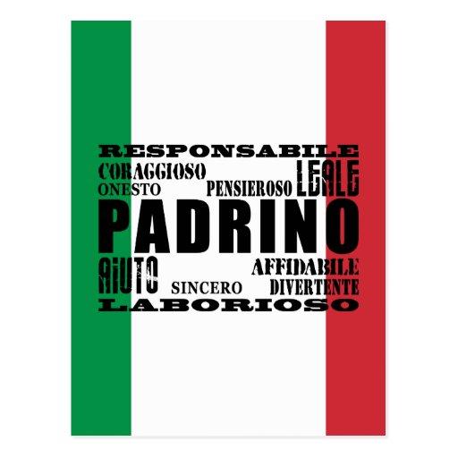 Padrinos italianos: Calidades Tarjeta Postal