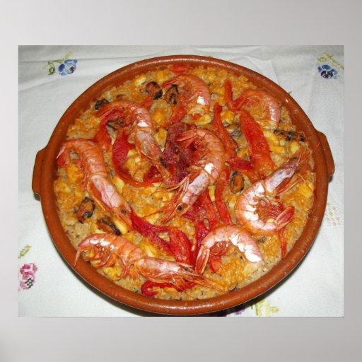 Paella  De  Marisco   Póster