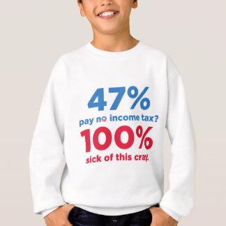 ¿Paga del 47% ningunos impuestos? Sudadera