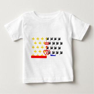 Pagar-de-la-Loira-Bandera Camiseta De Bebé