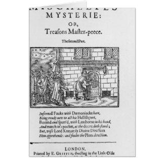 Página de título a 'Mischeefes Mysterie o traicion Tarjeton