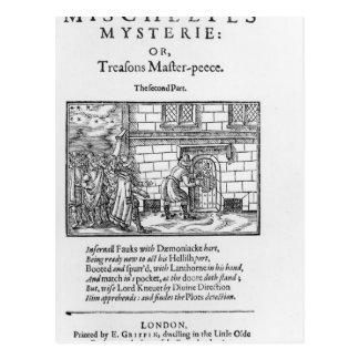 Página de título a 'Mischeefes Mysterie o traicion Postales