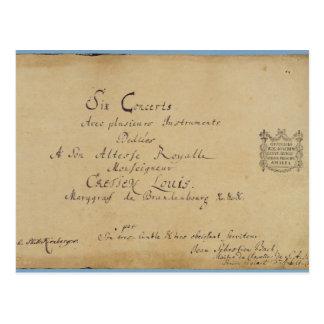 Página de título de los 'conciertos de Brandeburgo Postal