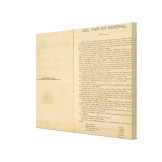 Página de título del atlas 1874 de México Lona Estirada Galerías