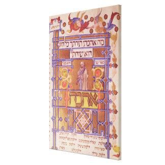 Página del Mishneh Torah, código sistemático Impresión En Lienzo Estirada