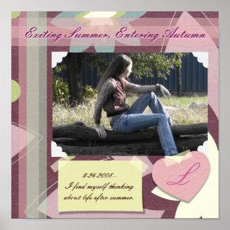 Página polvorienta del libro de recuerdos de los r póster