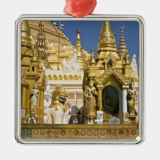 Pagoda de Shwedagon (Paya), sitio grande del templ Adornos
