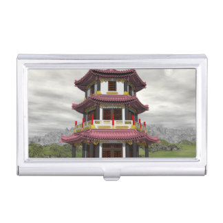 Pagoda en naturaleza - 3D rinden Caja Para Tarjetas De Visita