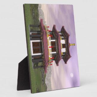 Pagoda en naturaleza - 3D rinden Placa Expositora