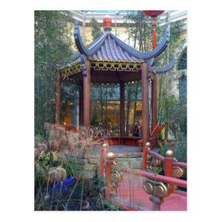 Pagoda oriental tarjeta postal