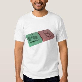 Pah como Protactinium del PA e hidrógeno de H Camisetas