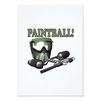 Paintball 2 invitación 12,7 x 17,8 cm