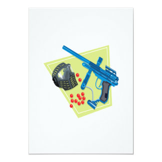 Paintball 3 invitación 12,7 x 17,8 cm