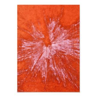 Paintball blanco en rojo invitación 12,7 x 17,8 cm