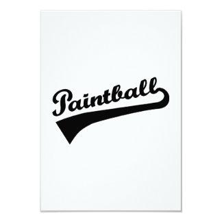 Paintball Invitación 8,9 X 12,7 Cm