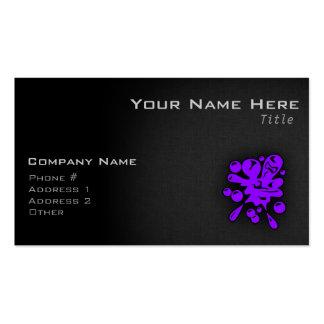 Paintball púrpura violeta tarjetas de visita