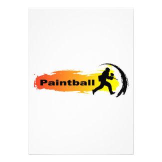 Paintball único invitaciones personalizada