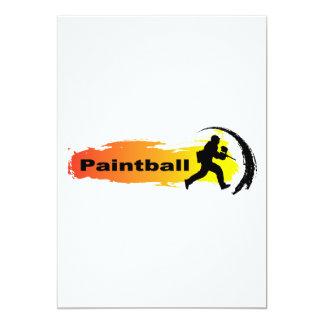 Paintball único invitación 12,7 x 17,8 cm