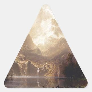painting-815 pegatina triangular