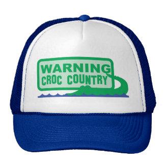 ¡País AMONESTADOR del croc! diseño del cocodrilo Gorro