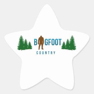 País de Bigfoot Pegatina En Forma De Estrella